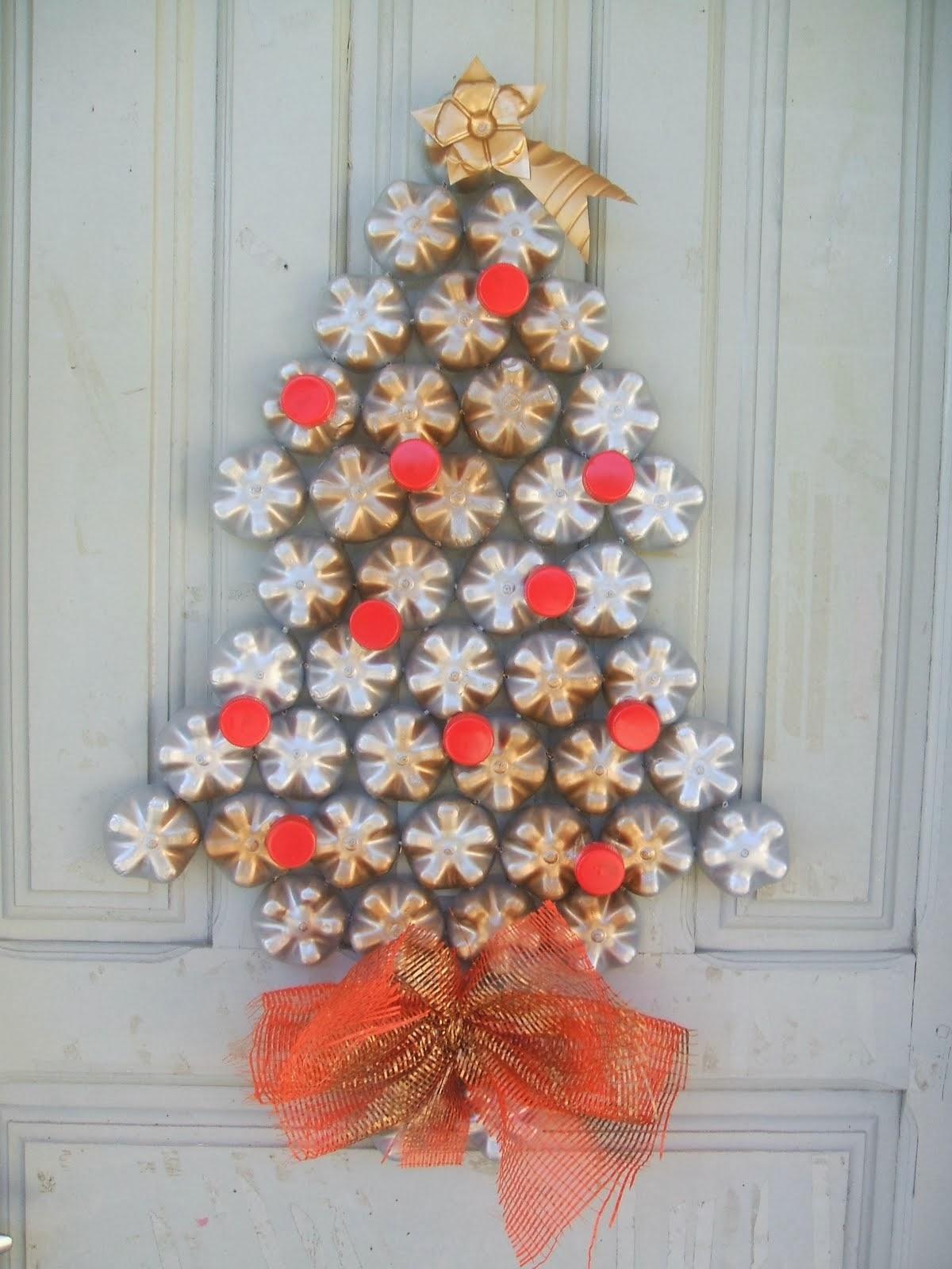 Resultado de imagen para decorar puertas arreglos navidad - Arreglo de puertas de madera ...