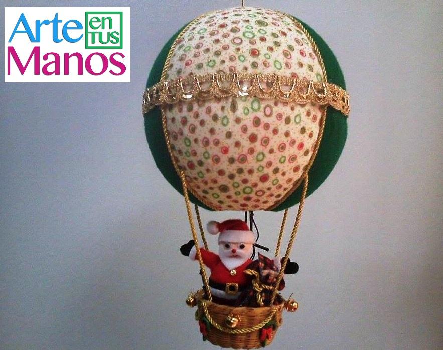Hermosa Manualidad De Globo Navideño Con Santa Claus Para Hacer En Esta Navidad Paso a Paso