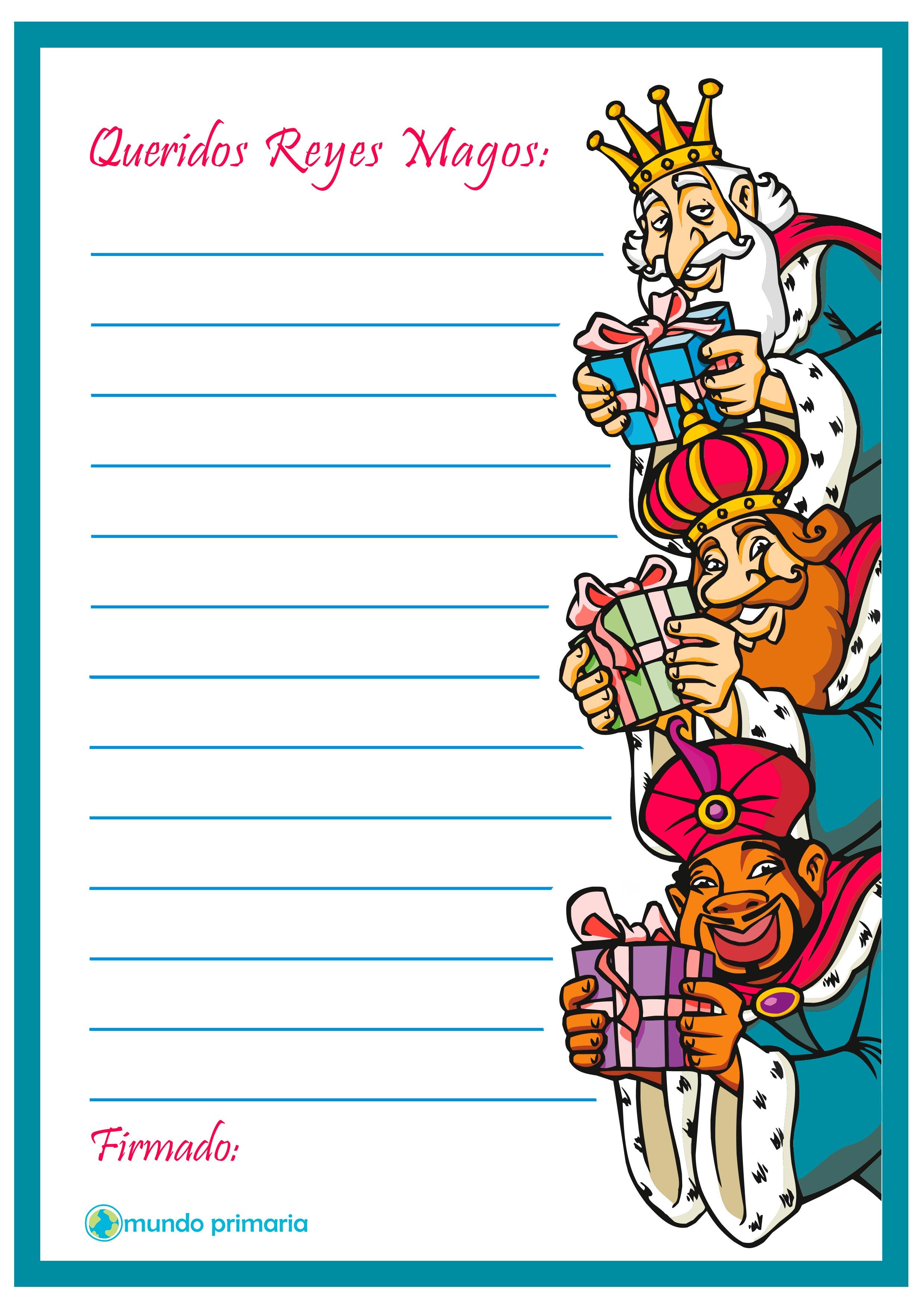 Cartas Para Imprimir y Para Enviar a Los Reyes Magos